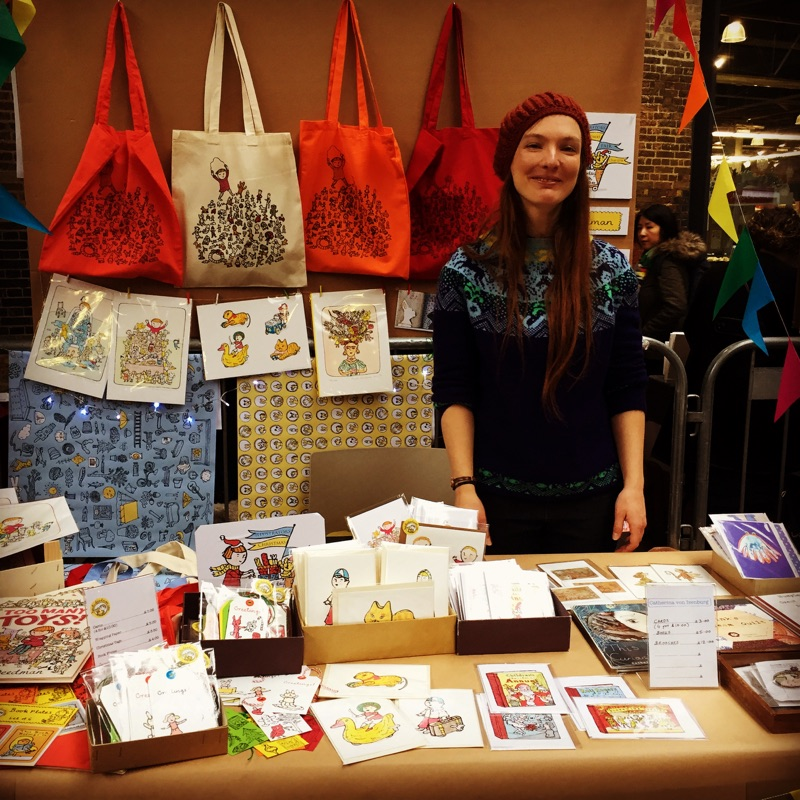It was great to be part of the House of Illustration fair yesterday, sharing a table with Heidi Deedman, a wonderful day.